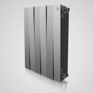 радиатор биметалл royal thermo pianoforte 500/silver satin - 10 секц.