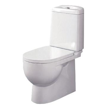 SANITA LUXE. Унитаз-компакт Best SL D двухрежимный белый (сиденье дюропласт, арматура Geberit) SL900302