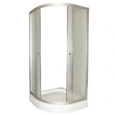 FARO. Душевой уголок 8031 с низким поддоном, стекло крезет (900*900*2000)