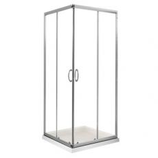 COMFORTY. Душевое ограждение 88 прозрачное стекло, низкий акриловый поддон 900*900*1850