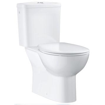 GROHE. Унитаз-компакт Bau Ceramic, вертикальный выпуск, сиденье с микролифтом, боковой подвод воды, 39346000