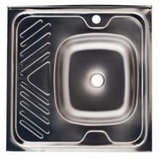 Мойка нержавейка кухонная 60*60/ 0,6мм чаша справа (б\с) Betanox 06R