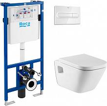 Комплект Инсталляция Roca DUPLO WC с кнопкой хром + Унитаз Roca Gap с микролифтом