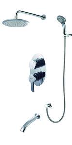 """""""Атлантисс"""" LM3222C Смеситель для ванны и душа встраиваемый с доп. 5-функц. лейкой,   хром"""