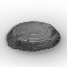 Люк канализационный легкий на шарнире с замком
