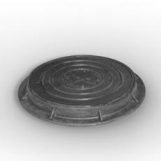 Люк чугунный канализационный (тип лёгкий) ГОСТ 3634-99