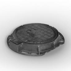 Люк канализационный чугунный тяжелый на шарнире с замком