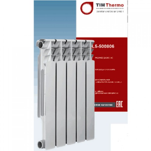 Радиатор алюмин. TIM Extra Plus 500-100  4 секции