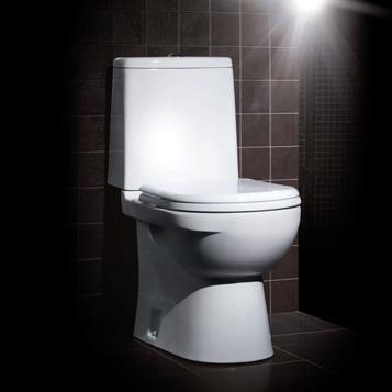 """Унитаз-компакт """"Next Luxe SL DМ"""" двухрежимный белый (сиденье дюропласт с микролифтом,  арматура Geberit) SANITA LUXE"""