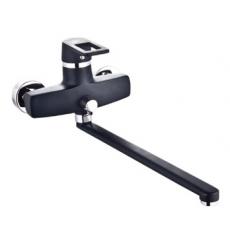 Ростовская мануфактура. Смеситель для ванны SL77BL-006E с длинным изливом, картридж керамический 35 мм, цвет корпуса - черный
