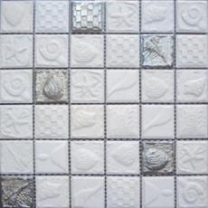 Elada Mosaic. Мозаика SH- F48004 (300*300*8 мм) серый морской микс