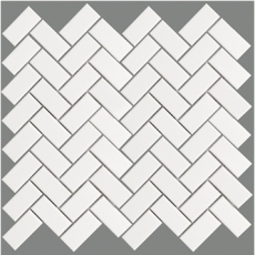 Elada Mosaic. Мозаика 2348TN101M (283*283*6 мм) белая матовая